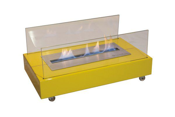 Lareira A Álcool 92º Classe A Amarela Queimador 40Cm