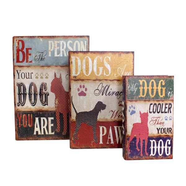 Livro Caixa Decorativo Book Box 3pc Dogs Oldway