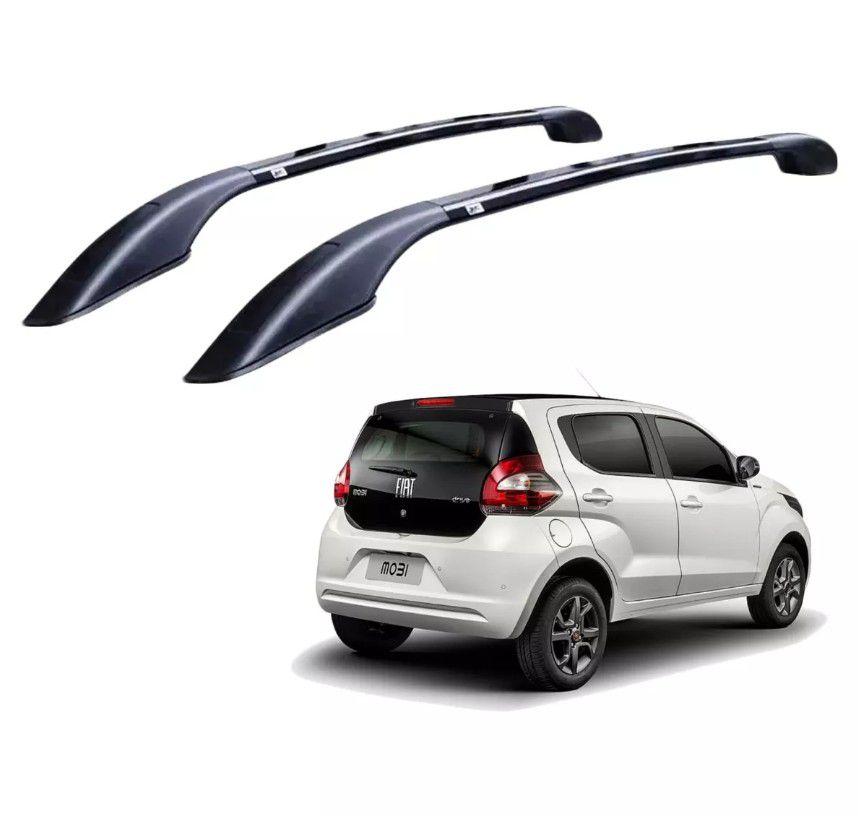 Longarina Teto Alumínio Preto Decorativa Fiat Mobi