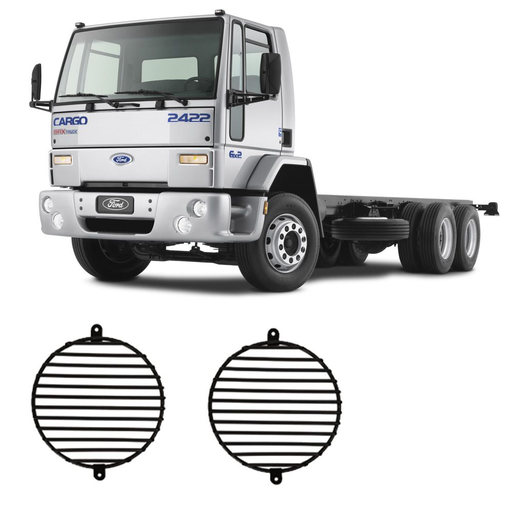Par Protetor Grade Farol Ford Cargo 1622/1722/4030/4031 2001 Em Diante
