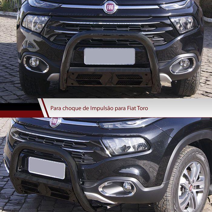 Parachoque de Impulsão Preto Fiat Toro 4X2 - Bepo