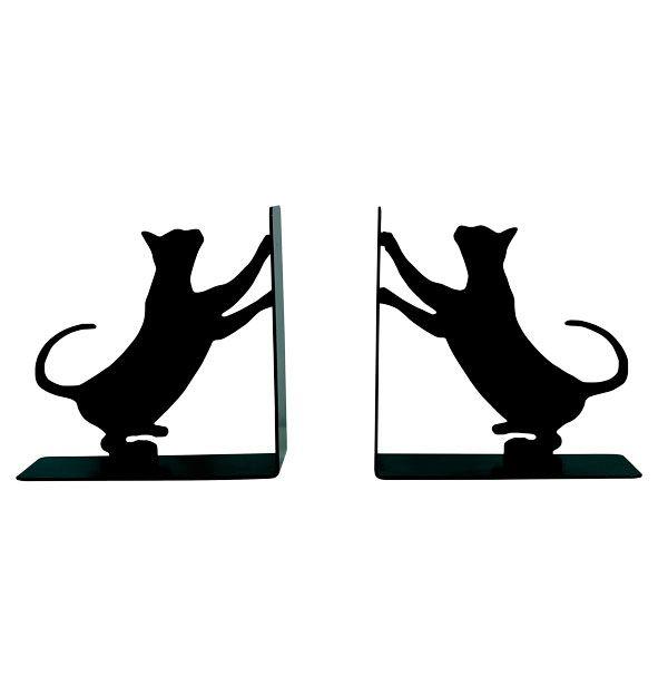 Porta Livro Em Ferro Gatos