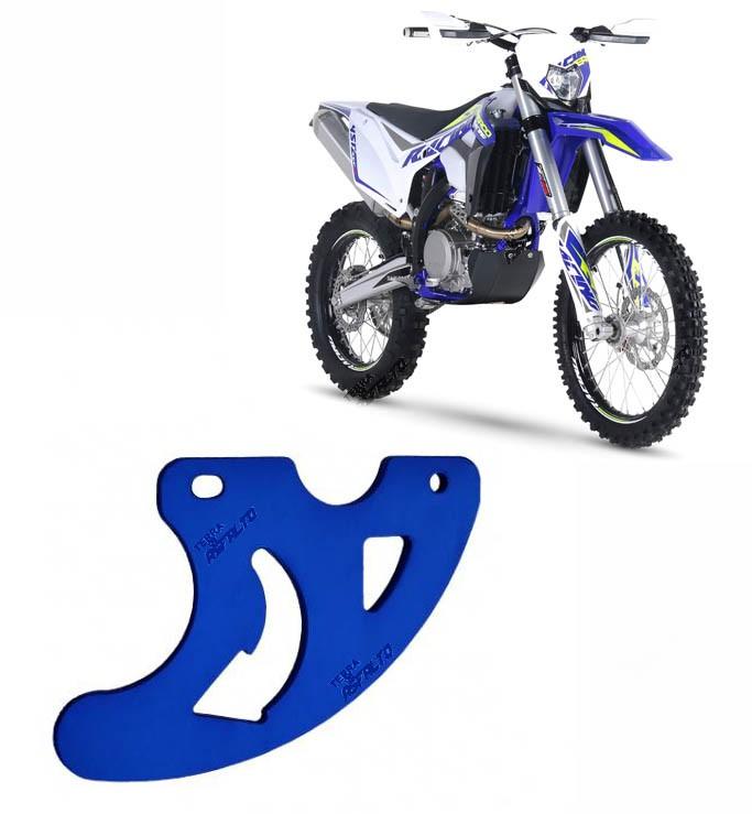 Proteção de Disco de Freio Traseiro Alumínio Azul Sherco 450 2011 a 2013