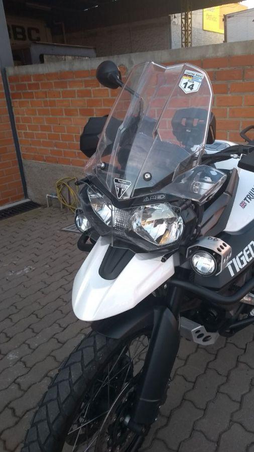 Proteção De Farol Triumph Tiger 800 1200
