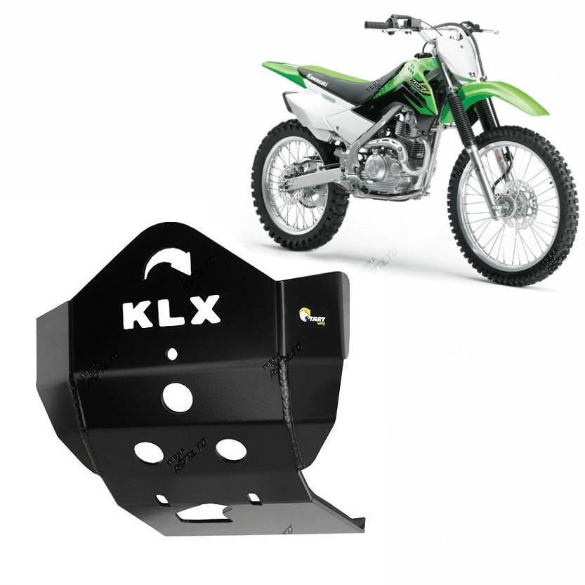 Proteção de Motor Premium Alumínio Preto Epoxi KLX 450 2006 a 2015