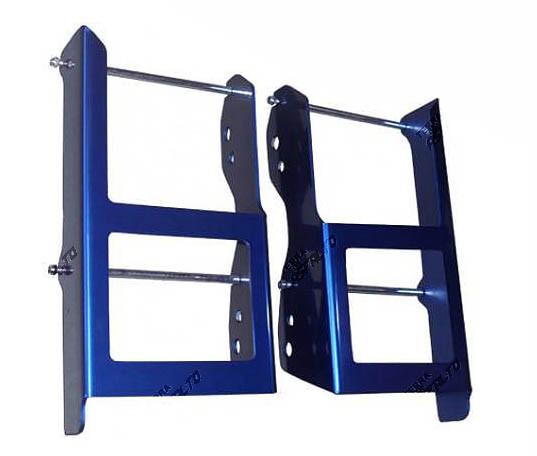 Proteção de Radiador Envolvente Alumínio Azul Sherco 2T 250/300 2014 a 2016