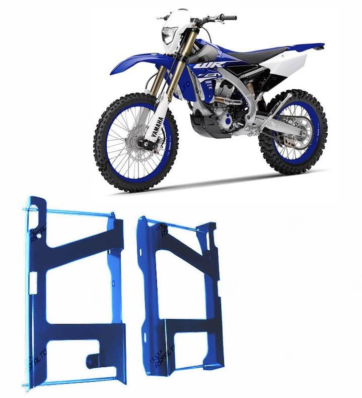 Proteção de Radiador Envolvente Alumínio Azul Yamaha WRF450 2012 A 2015