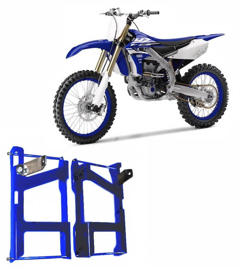 Proteção de Radiador Envolvente Alumínio Azul Yamaha YZ 250F 2010 A 2013