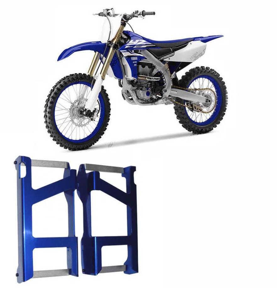 Proteção de Radiador Envolvente Alumínio Azul Yamaha YZF250 2014 A 2016