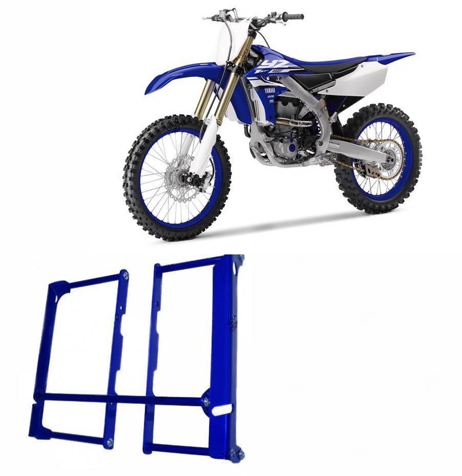 Proteção de Radiador Envolvente Alumínio Azul Yamaha YZF / WRF