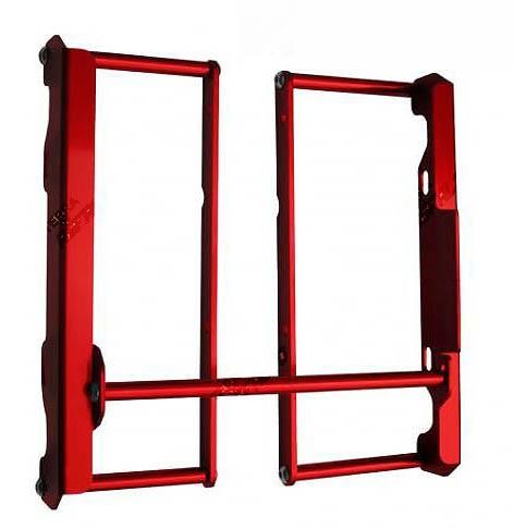 Proteção de Radiador Envolvente Alumínio Vermelho Husqvarna TE 250/310/530 2006 a 2012
