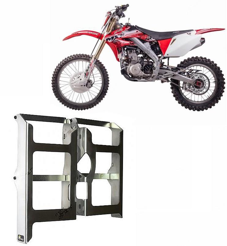Proteção de Radiador Envolvente Alumínio Polido Mormai MXF 250