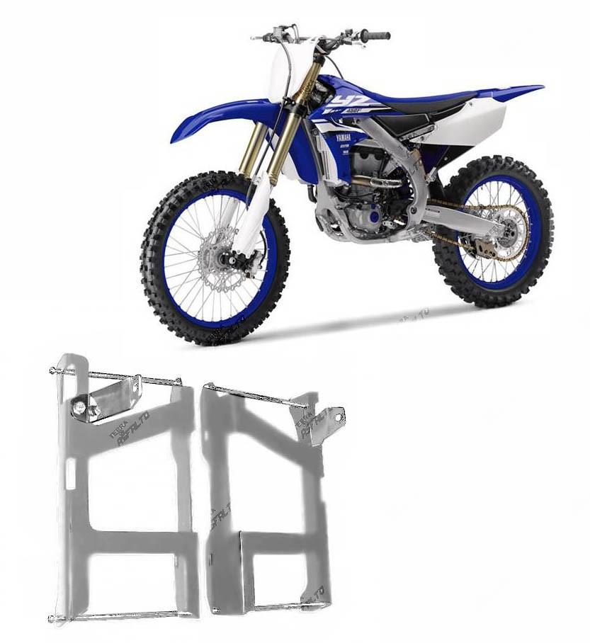 Proteção de Radiador Envolvente Alumínio Polido Yamaha YZ 250F 2010 A 2013