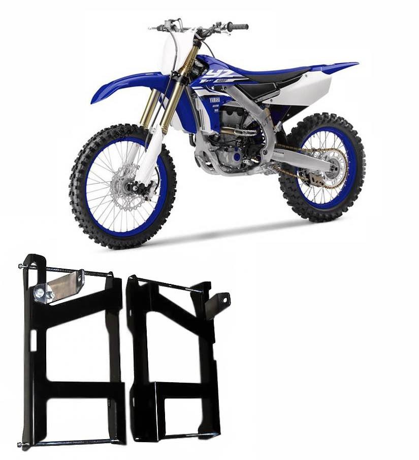 Proteção de Radiador Envolvente Alumínio Preto Epoxi Yamaha YZ 250F 2010 A 2013