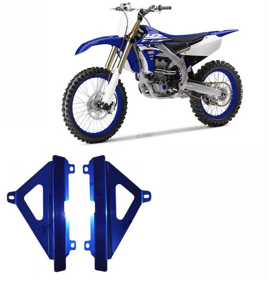 Proteção de Radiador Lateral MX Alumínio Azul Yamaha YZF250 2014 A 2016