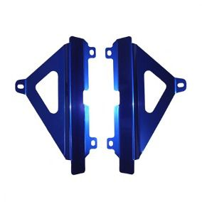 Proteção de Radiador Lateral MX YZF 450 2018/ 2019 Alumínio Anodizado Azul