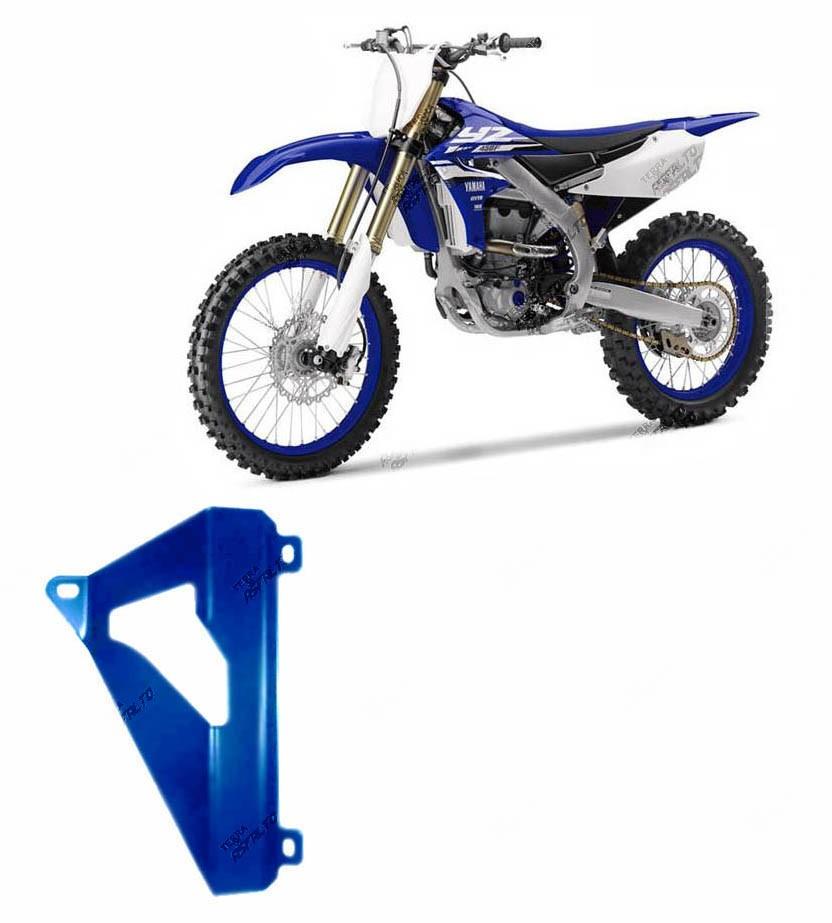 Proteção de Radiador MX Alumínio Azul Yamaha YZF250 2010 A 2013