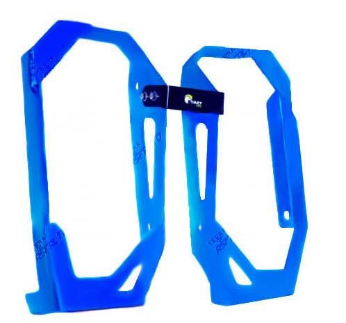 Proteção de Radiador Premium Alumínio Azul Husqvarna Husaberg