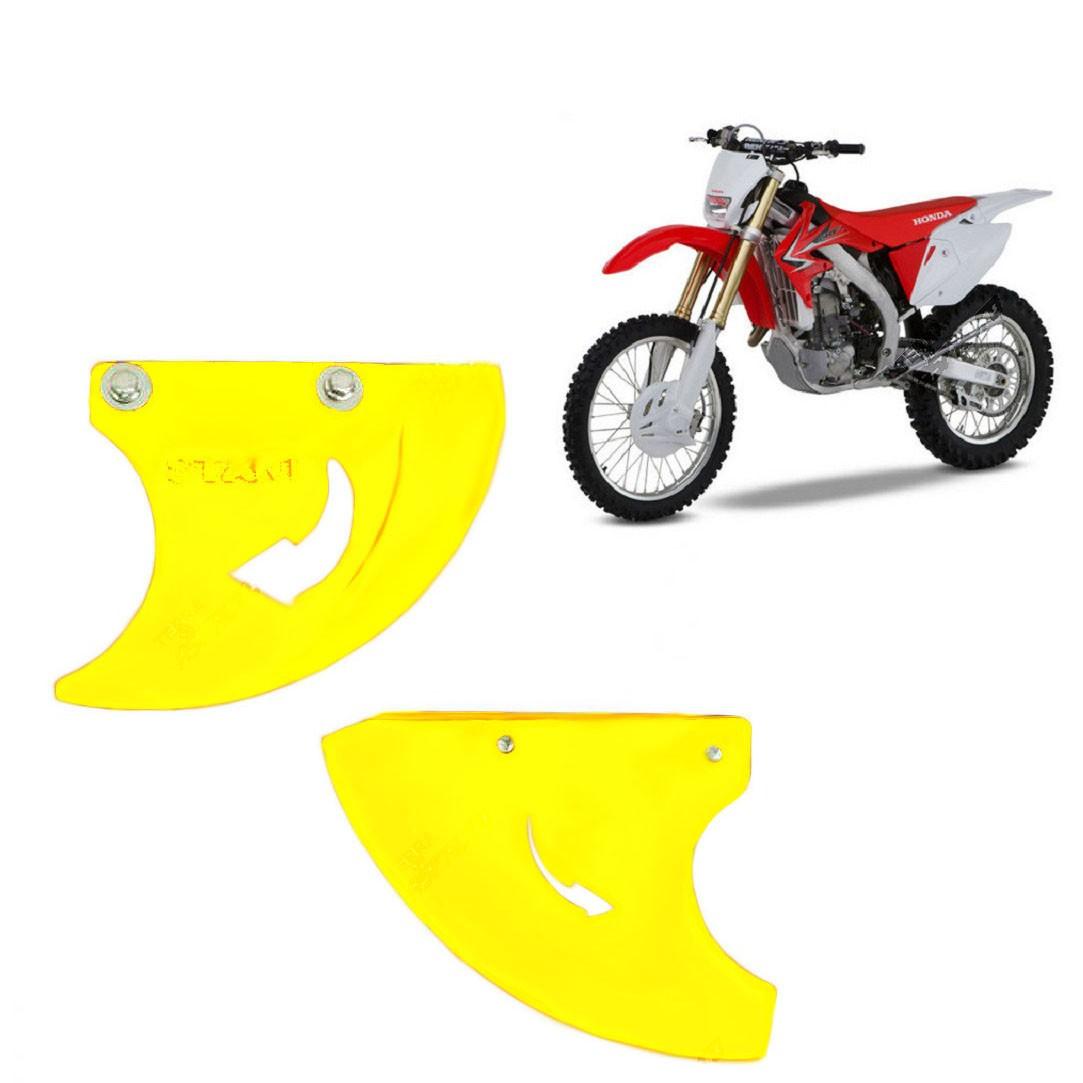 Proteção do Disco de Freio Traseiro PU Amarelo Fluorescente CR125/250 2001 a 2008 CRF 250/450 R/X 2004 a 2017