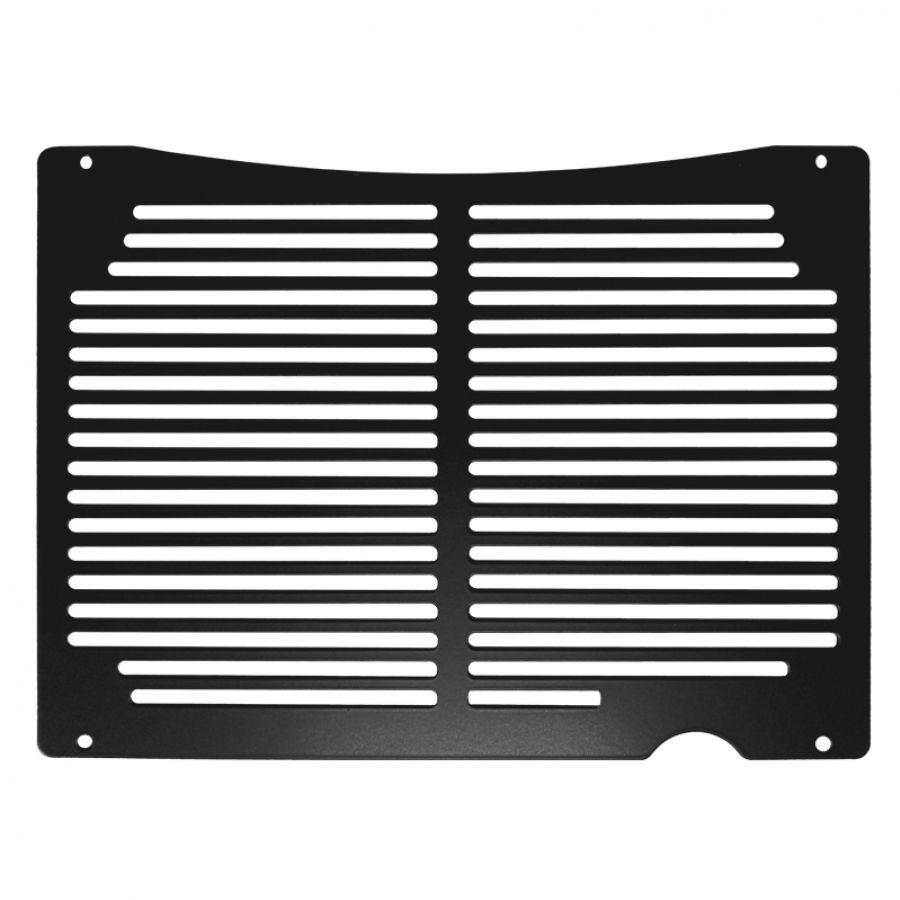 Proteção Frontal de Radiador CBR500 R  2014 2019  Aço Preto Epoxi