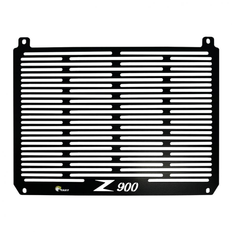 Proteção Frontal de Radiador Z900 2018/19  Aço Preto Epoxi