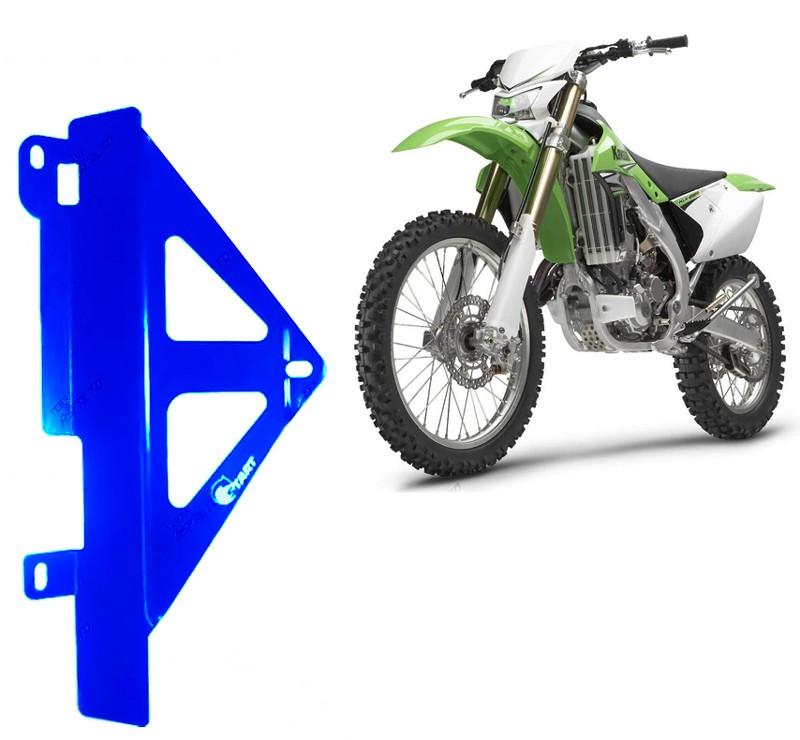 Proteção Lateral Radiador Alumínio Azul Kawazaki KXF450 2010 a 2015