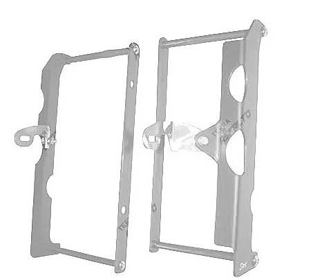Proteção Radiador (Envolvente) CRF250 R 06/09 250X 06/17 Alumínio Polido