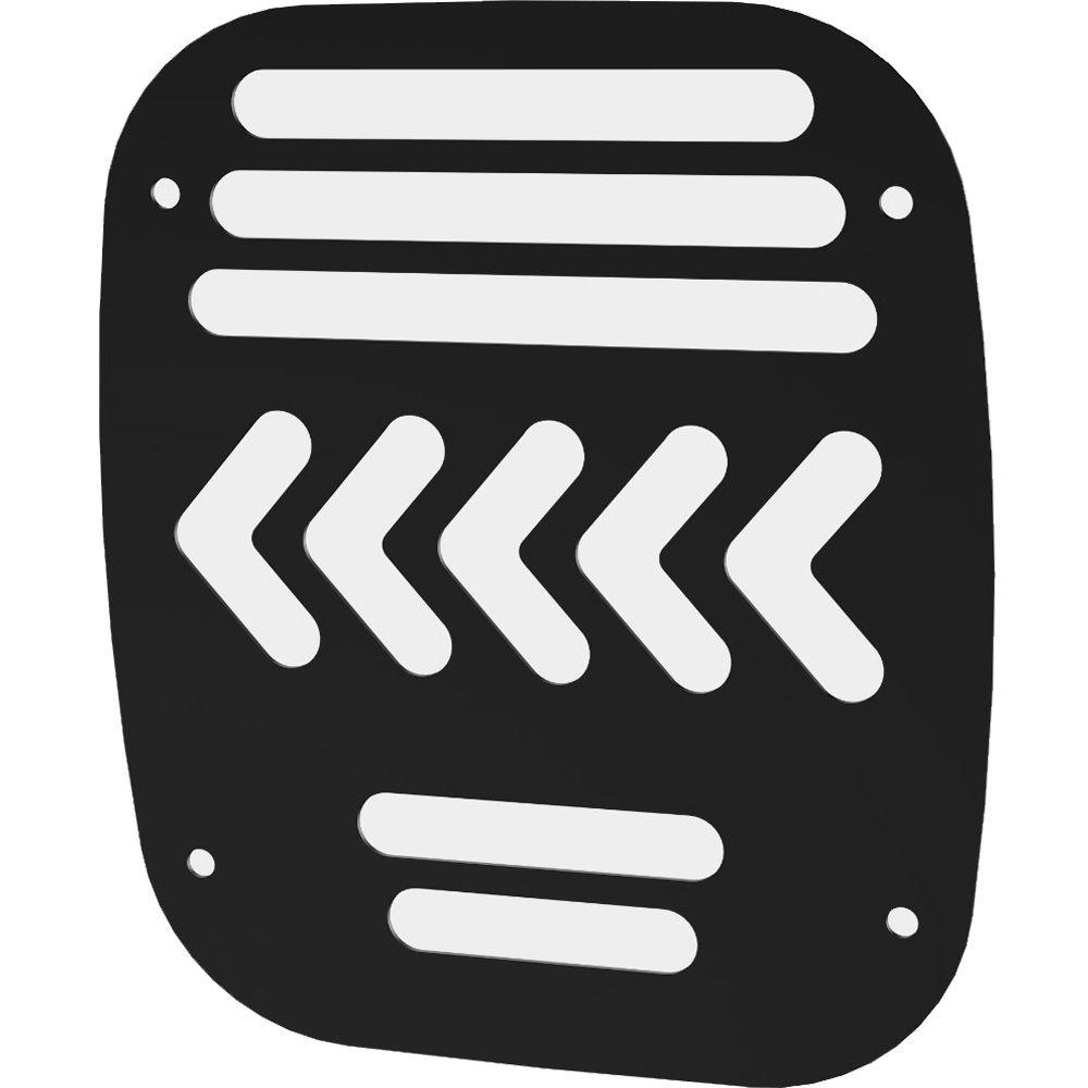 1 Peça Proteção Sinaleira Traseira Troller T4 Até 2014