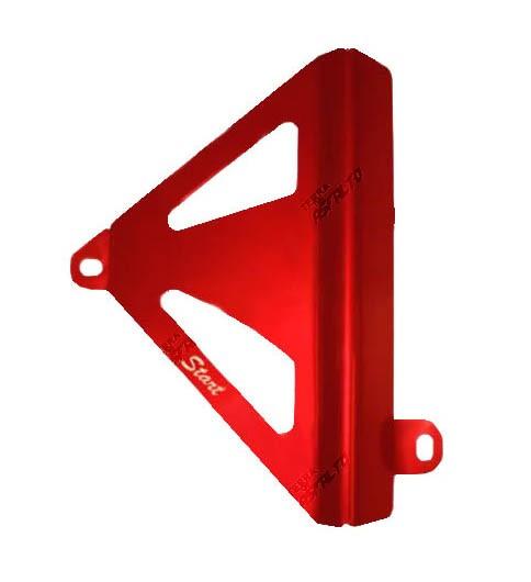 Protetor de Radiador Lateral MX CRF250 2010/13 Alumínio Vermelho