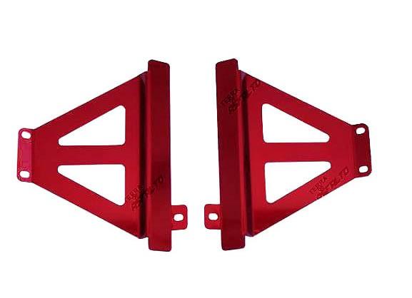 Protetor de Radiador Lateral MX CRF250 R 2014/15 Alumínio Vermelho