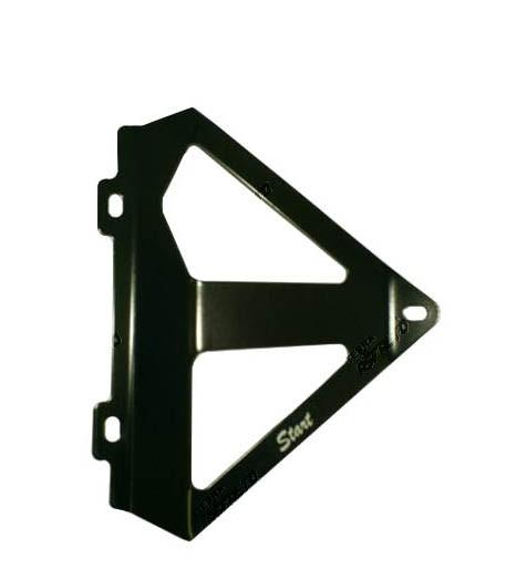 Protetor de Radiador Lateral MX CRF250 R/X 06/09 Alumínio (Preto Epoxi)