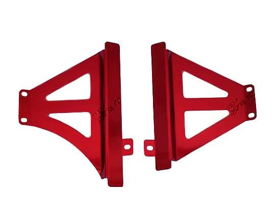 Protetor de Radiador Lateral MX CRF450 R 2013/14 Alumínio Vermelho