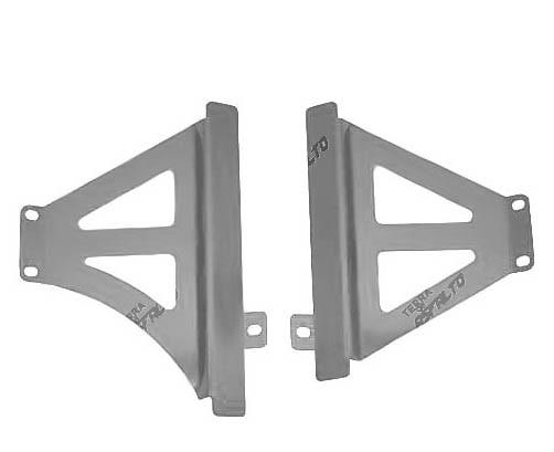 Protetor de Radiador Lateral MX CRF450 R 2013/14 Alumínio Polido