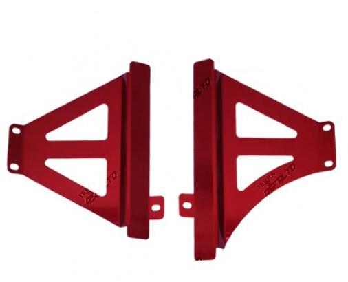 Protetor de Radiador Lateral MX CRF 250R 2017  CRF 450R 2015 a 2017 Alumínio Vermelho