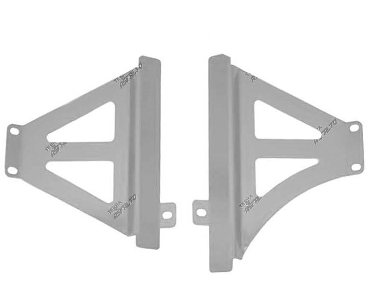 Protetor de Radiador Lateral MX CRF 250R 2017  CRF 450R 2015 a 2017 Alumínio Polido