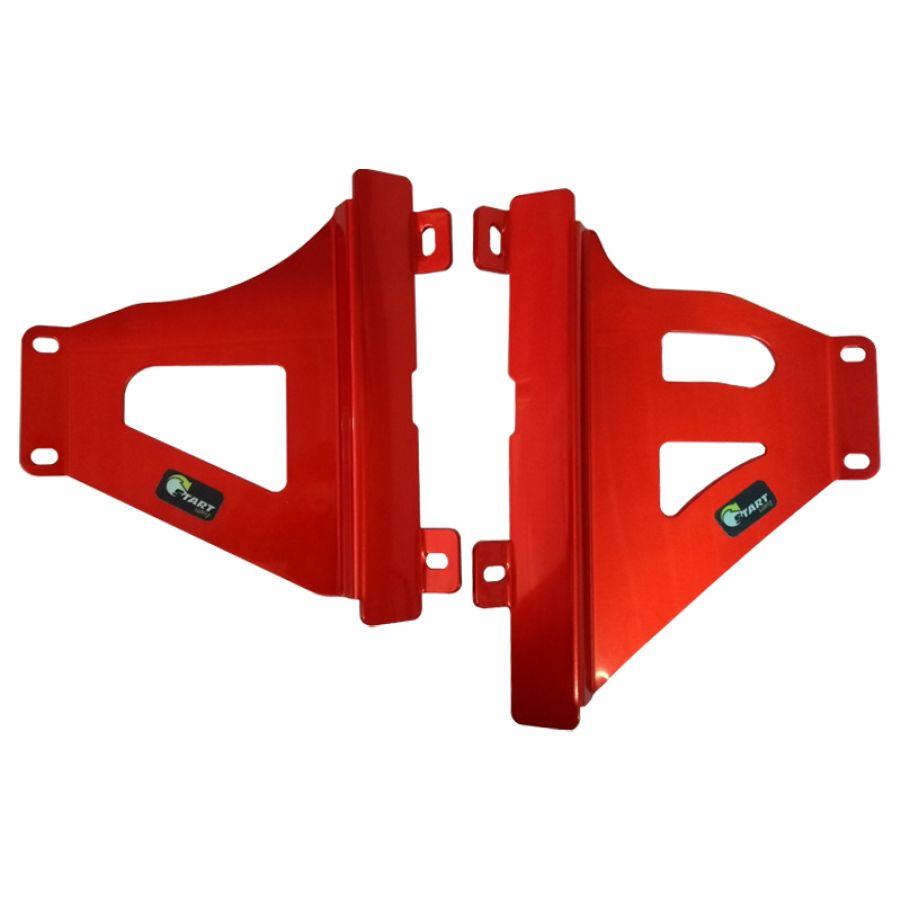 Protetor Radiador Lateral MX CRF250 R / 250 RX 2018 19 Vermelho