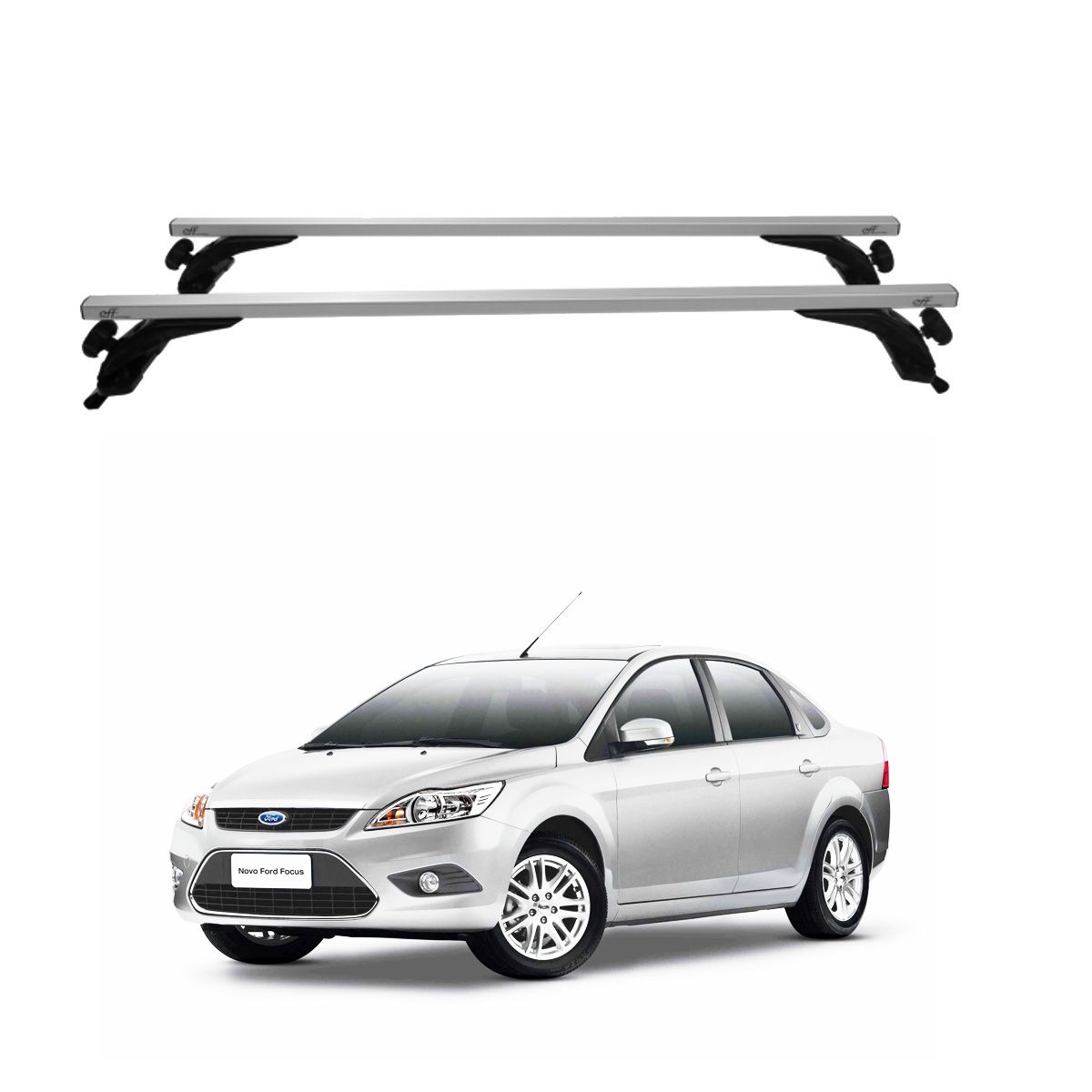 Rack Travessa de Teto Alumínio Prata Ford Focus Sedan