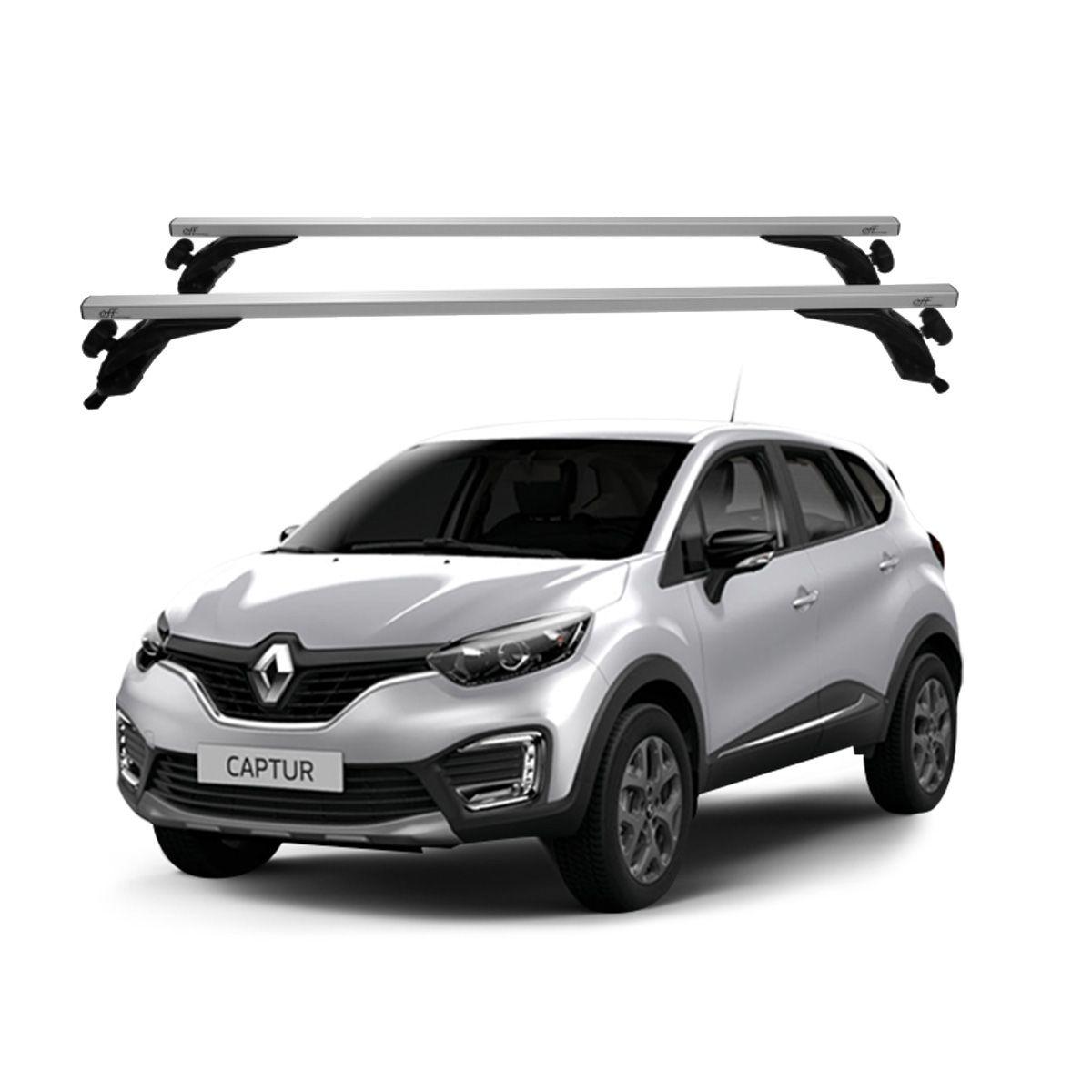 Rack Travessa de Teto Alumínio Prata Renault Captur