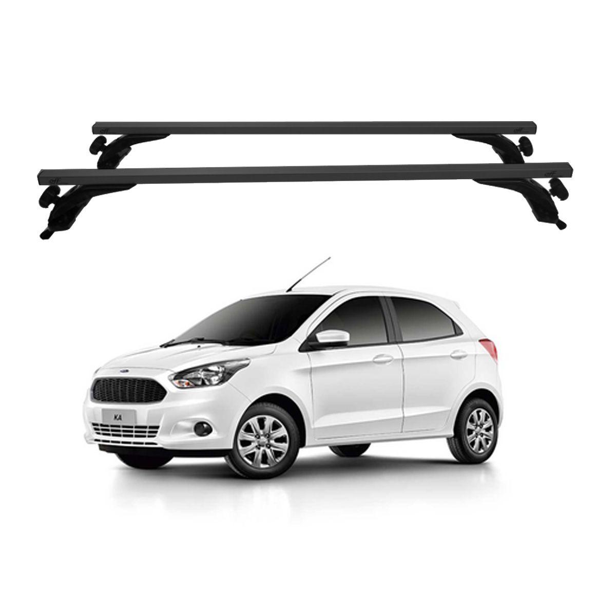Rack Travessa de Teto Alumínio Preto Ford Ka