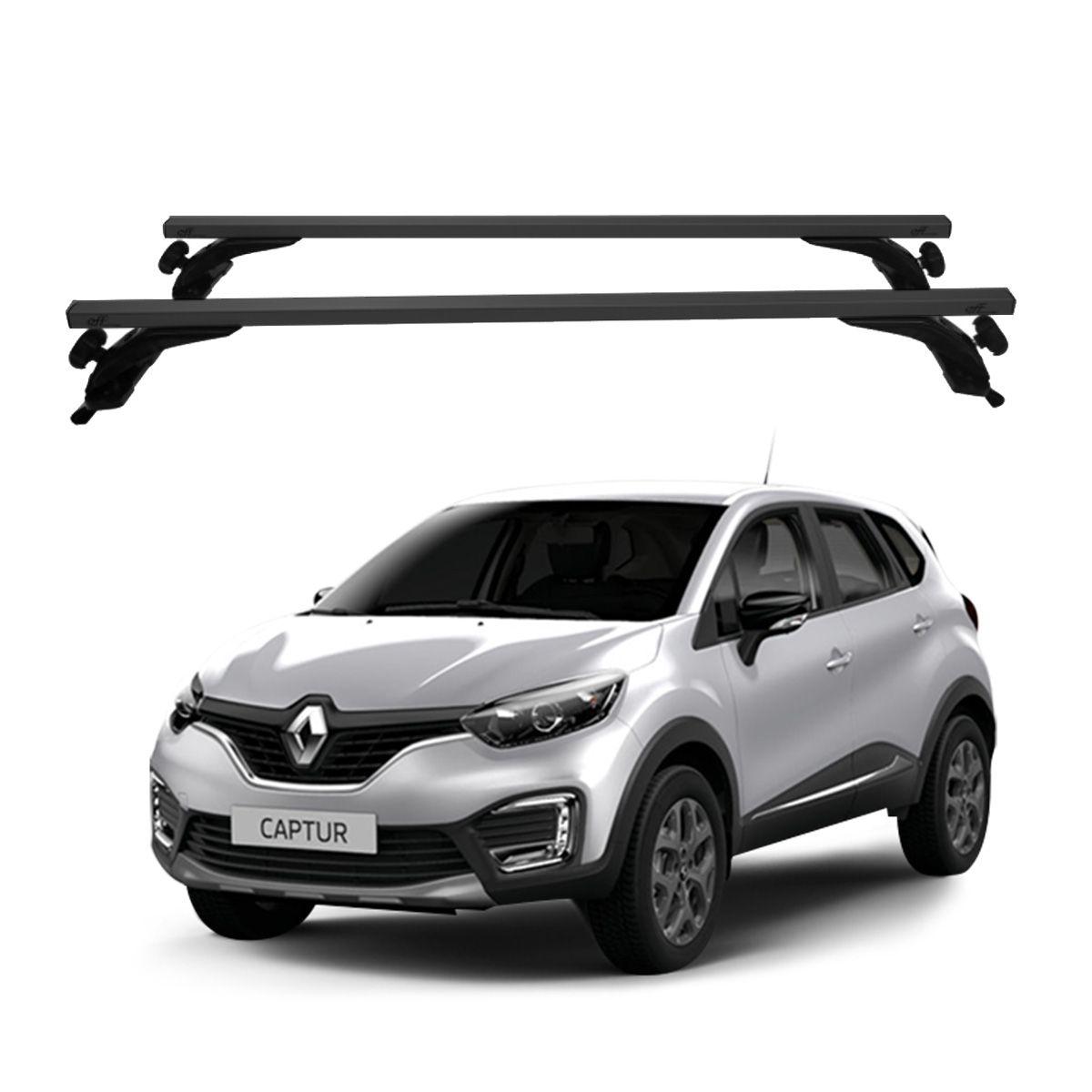 Rack Travessa de Teto Alumínio Preto Renault Captur