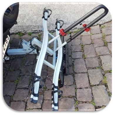 Suporte de Bicicletas para Engate de Reboque Removível Off