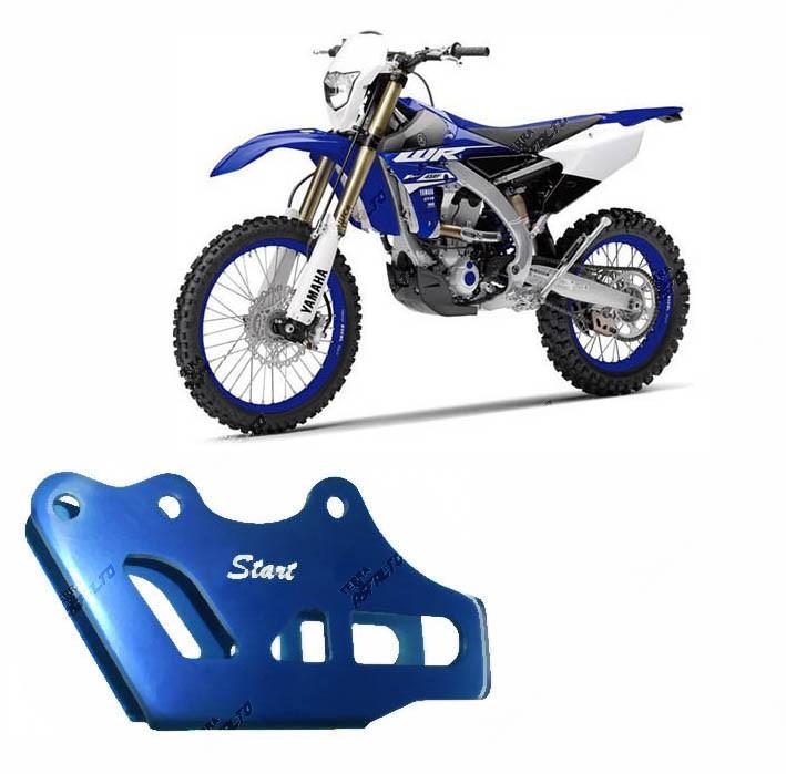 Suporte Guia de Corrente Alumínio Azul Yamaha YZ / WR