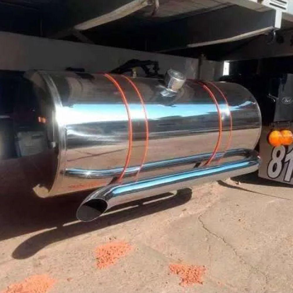 Tanque Combustível Inox Caminhão Chevrolet D12000 155 Litros