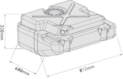 Tanque de Combustível Plástico 110 Litros para F350 1999...