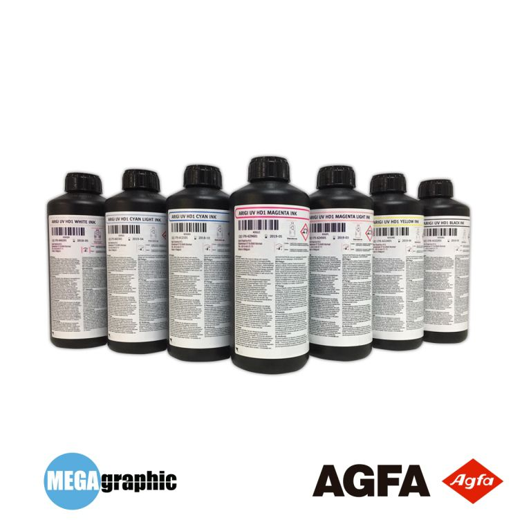 Tintas UV AGFA ARIGI - HD1 p/ Rígidos e Flexíveis.