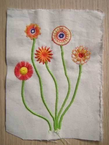 Aparelho de costura ponto Flor
