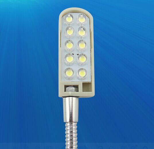Luminária 10 Leds com Haste flexível e fixação com imã - Bivolt