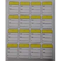 Etiqueta Tag de papel com Código - Tamanho - Preço