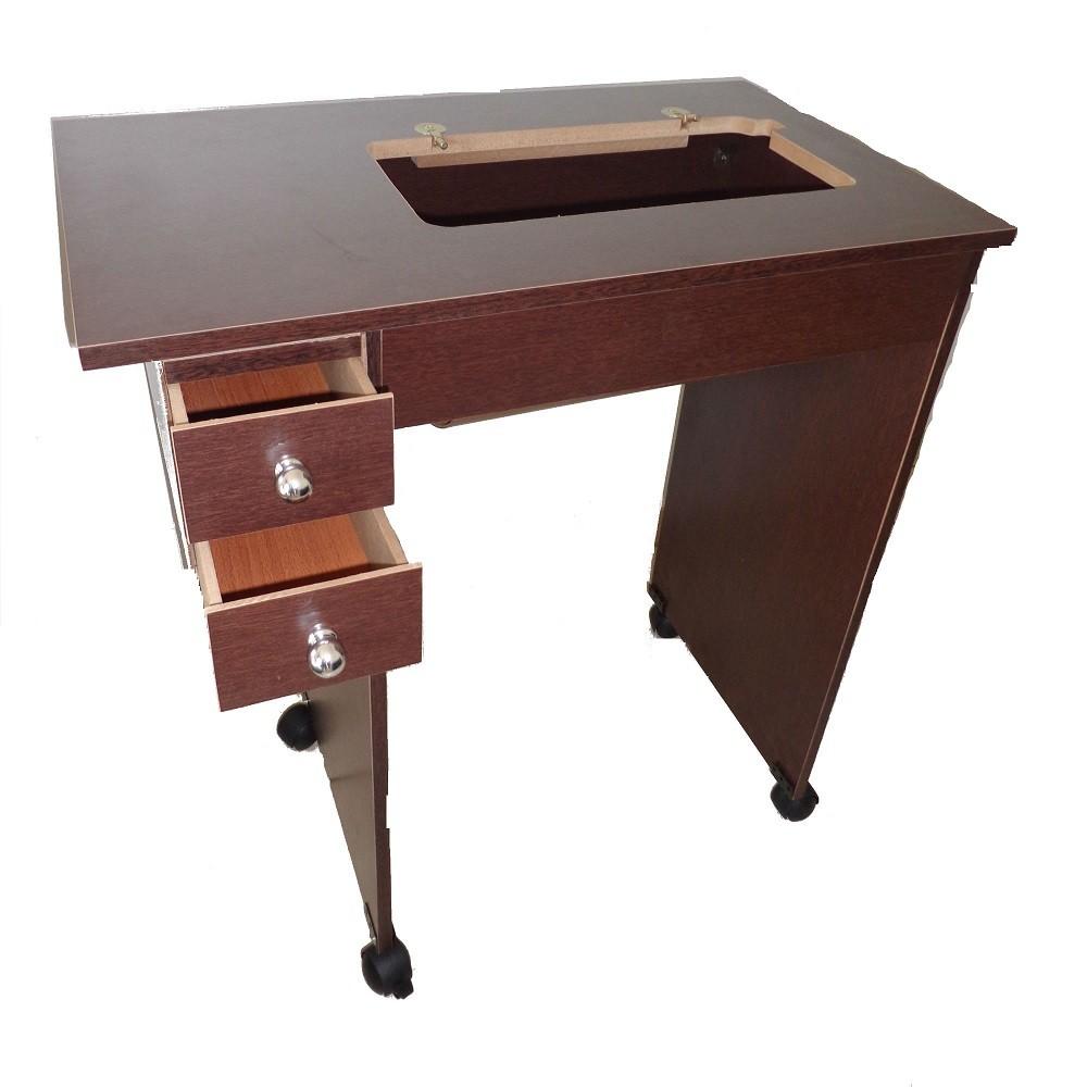 Mesinha para máquina de costura com espaço livre para as pernas em MDF - Serve Para todos os modelos de máquinas!