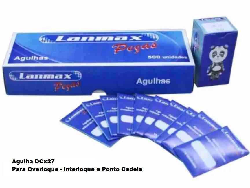 Agulha DCXx27 LANMAX para Overloque, Interloque e Ponto Cadeira - Ponta Bola -10 agulhas